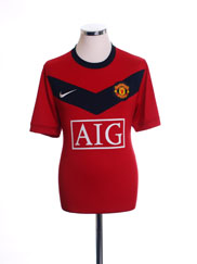 2009-10 Manchester United Home Shirt L