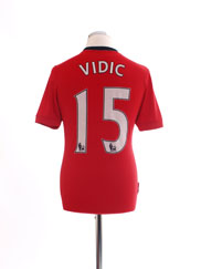 2009-10 Manchester United Home Shirt Vidic #15 S