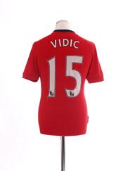 2009-10 Manchester United Home Shirt Vidic #15 S
