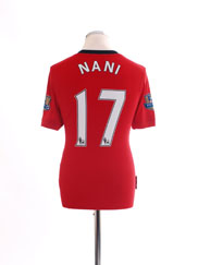 2009-10 Manchester United Home Shirt Nani #17 S