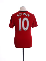 2009-10 Manchester United Home Shirt Rooney #10 M