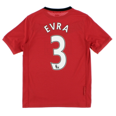 2009-10 Manchester United Nike Home Shirt Evra #3 *Mint* L.Boys