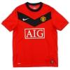 2009-10 Manchester United Nike Home Shirt Evra #3 *Mint* L.Boys