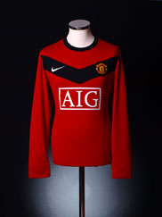 2009-10 Manchester United Home Shirt *Mint* L/S L
