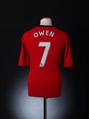 2009-10 Manchester United Home Shirt Owen #7 XL