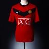 2009-10 Manchester United Home Shirt Owen #7 XL.Boys