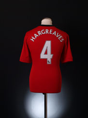 2009-10 Manchester United Home Shirt Hargreaves #4 L