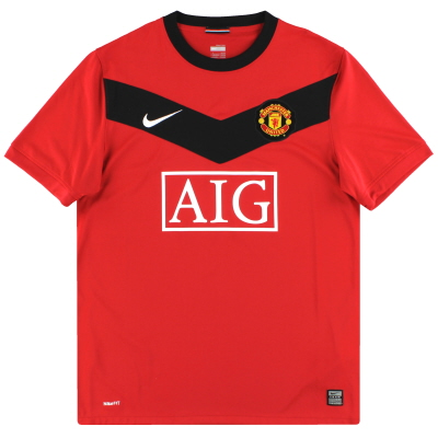 2009-10 Manchester United Nike Home Shirt L