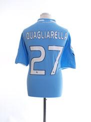 2009-10 Napoli Home Shirt Quagliarella #27 M