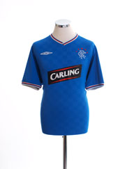 2009-10 Rangers Home Shirt L