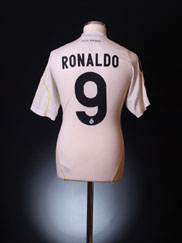 2009-10 Real Madrid Home Shirt Ronaldo #9 M