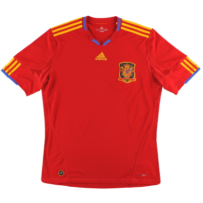 2009-10 Spain adidas Home Shirt *Mint* L