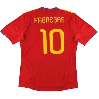 2009-10 Spain adidas Home Shirt Fabregas #10 *w/tags* XL