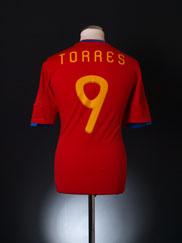 2009-10 Spain Home Shirt Torres #9 L