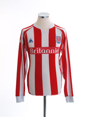2009-10 Stoke City Home Shirt L/S M