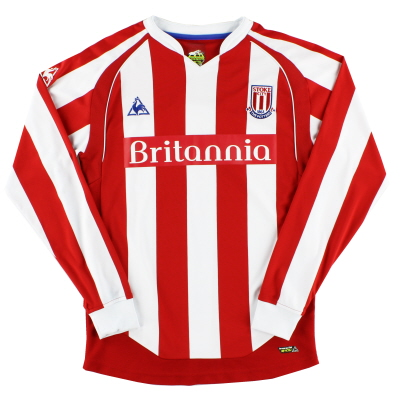 2009-10 Stoke City Le Coq Sportif Home Shirt L/S S