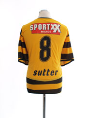 2009-10 Young Boys Match Issue Home Shirt Sutter #8 XL