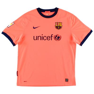 2009-11 Barcelona Away Shirt L