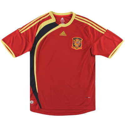 2009 Spain Confederations Cup adidas Home Shirt XL.Boys