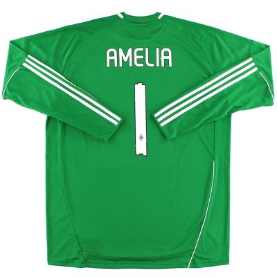 2010-11 AC Milan Goalkeeper Shirt Amelia #1 XXL