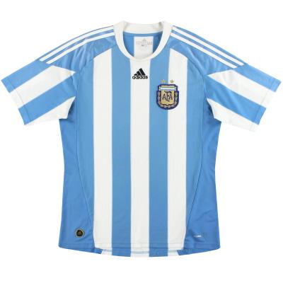 2010-11 Argentina adidas Home Shirt M