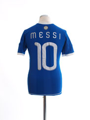 2010-11 Argentina Home Shirt Messi #10 Y