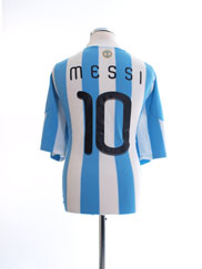2010-11 Argentina Home Shirt Messi #10 XXL