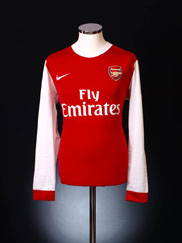 2010-11 Arsenal Home Shirt L/S S