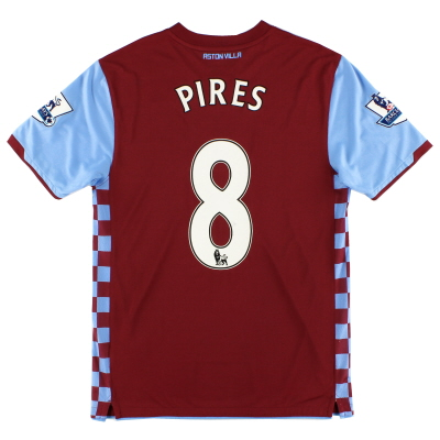 2010-11 Aston Villa Home Shirt Pires #8 M