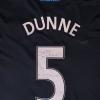 2010-11 Aston Villa Player Issue Away Signed Shirt L/S Dunne #5 XXL