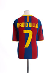 2010-11 Barcelona Home Shirt David Villa #7 XXL