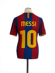 2010-11 Barcelona Home Shirt Messi #10 S