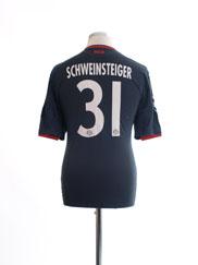 2010-11 Bayern Munich European Third Shirt Schweinsteiger #31 M