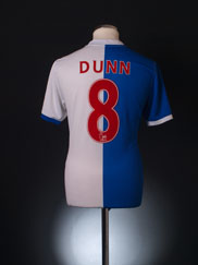 2010-11 Blackburn Home Shirt Dunn #8 M