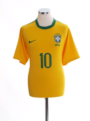 2010-11 Brazil Home Shirt #10 L