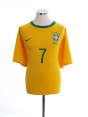 2010-11 Brazil Home Shirt #7 XL