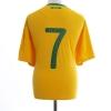 2010-11 Brazil Home Shirt #7 XL
