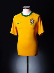 2010-11 Brazil Home Shirt L