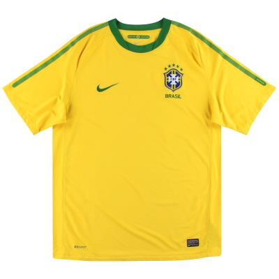 2010-11 Brazil Nike Home Shirt L.Boys