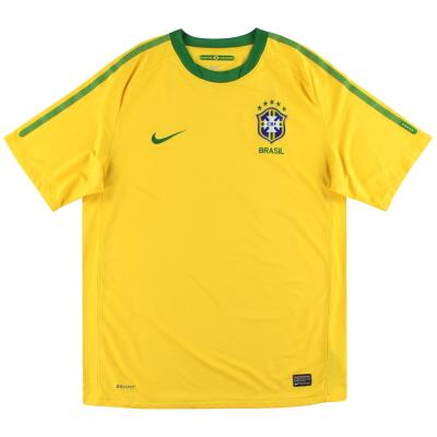 2010-11 Brazil Nike Home Shirt L