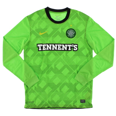 2010-11 Celtic Away Shirt L/S *Mint* M