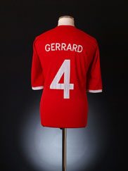 2010-11 England Away Shirt Gerrard #4 M