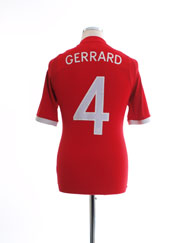 2010-11 England Away Shirt Gerrard #4 S
