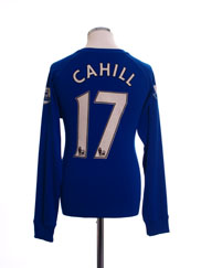 2010-11 Everton Home Shirt Cahill #17 L/S M
