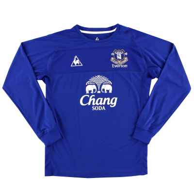 2010-11 Everton Home Shirt L/S L