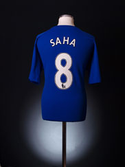 2010-11 Everton Home Shirt Saha #8 XL