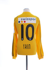 2010-11 FC Luzern Match Issue Away Shirt Yakin #10 L/S L