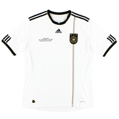 2010-11 Germany adidas Home Shirt 'Deutschland - Italien' XL
