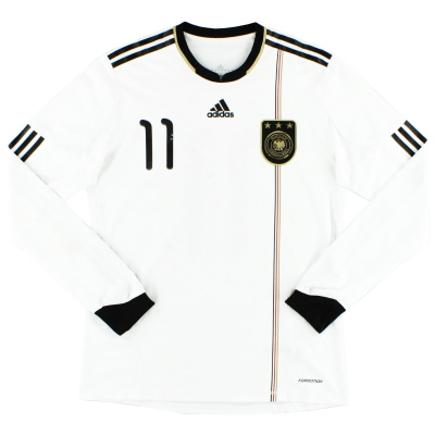 2010-11 Germany adidas Player Issue 'Formotion' Home Shirt #11 L/S L