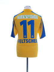 2010-11 Grasshoppers Away Shirt Feltscher #11 L